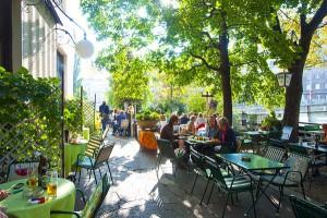 Café Rüdigerhof Uteservering